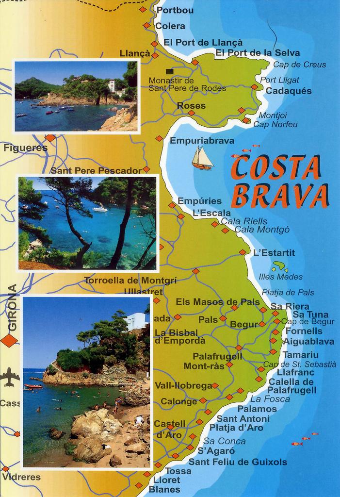 On Commence Par Un Petit Point Geographique Histoire De Bien Situer Lendroit La Costa Brava Est Le Nom Donne A Cote Mediterraneenne Catalogne