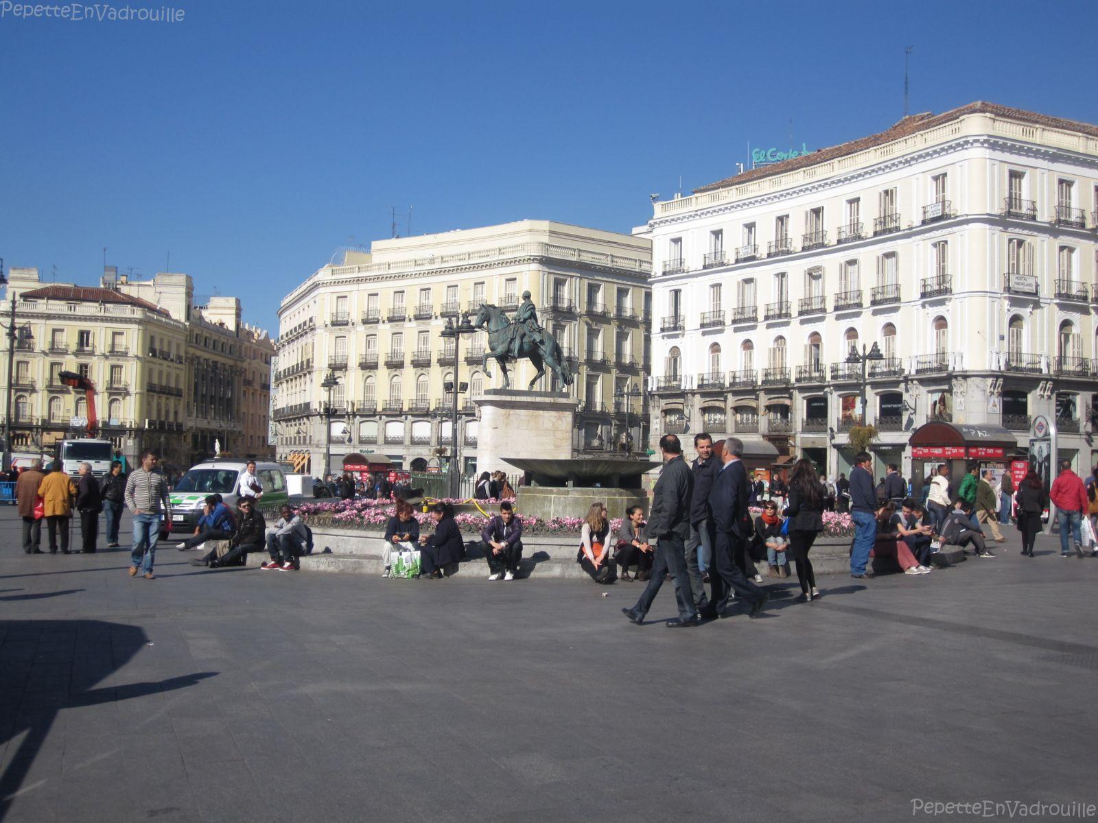 Madrid en un week end pepetteenvadrouille for Plaza de sol madrid